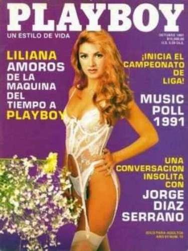 Liliana Amoros.- La modelo y conductora y ex esposa de Mario Carballido -que se hizo famosa al participar en algunos programas de concurso-, fue la conejita de la edición de octubre de 1991.