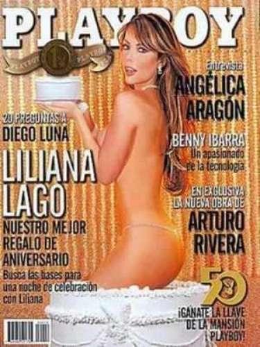 Liliana Lago.- La actriz y conductora de televisión también puso color en las mejillas de los lectores de Playboy con su aparición en octubre de 2003.