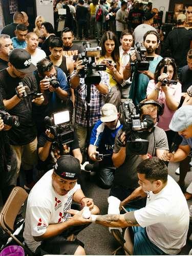 Marcos Maidana dio un entrenamiento público el 26 de agosto rumbo a su revancha con Floyd Mayweather Jr.