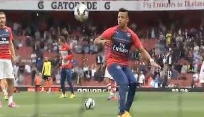 Alexis Sánchez lució todo su talento en previa del Arsenal Video: