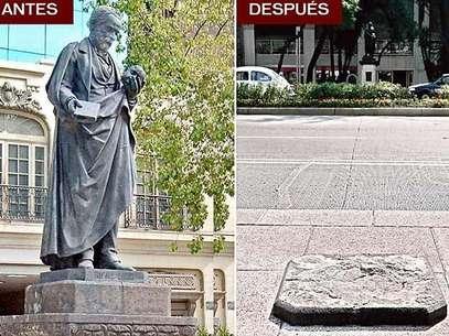 La estatua del doctor Rafael Lucio, develada en 1889, desapareció de Paseo de la Foto: Reforma / Terra Networks México S.A. de C.V.