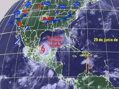 Arlene. Foto: Cortesía SMN. / Terra Networks México S.A. de C.V.