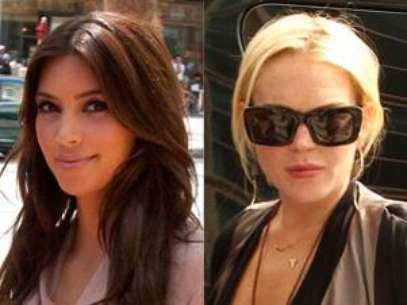 Kim Kardashian and Lindsay Lohan Foto: Getty Images