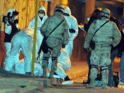 Los militares abatieron a un pistolero que intentó huir. Foto: Reforma El Norte