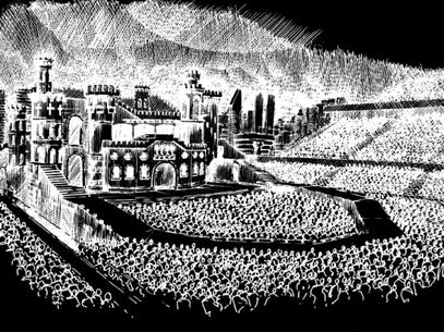 Boceto de la próxima gira mundial de Lady Gaga Foto: Twitter de Lady Gaga