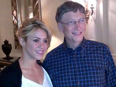 Shakira y Bill Gates Foto: twitter oficial Shakira