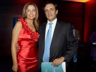 Viviana junto a su nueva pareja, Javier Gómez Templado. Foto: Inés Galaz / Agencia Uno