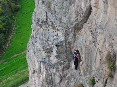 Néstor Contreras es el escalador superhumano de History Channel. Foto: Katherine Loaiza
