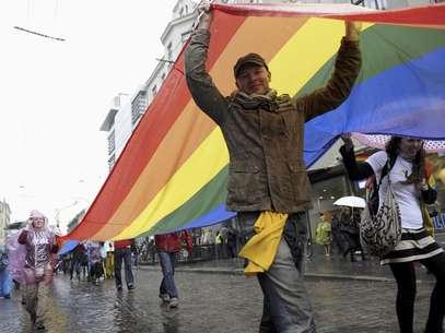 La marcha del orgullo gay tiene lugar cada año en Bogotá a finales de junio Foto: Roman Koksarov / AP