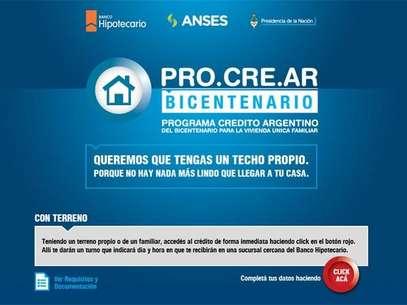 PRO.CRE.AR, programa de 100.000 créditos para la construcción de viviendas. Foto: Captura Anses