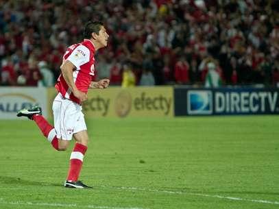Diego Aroldo Cabrera, marcó el gol con el que Independiente Santa Fe le ganó 1-0 a Boyacá Chicó. Foto: Felipe Rincón / Terra