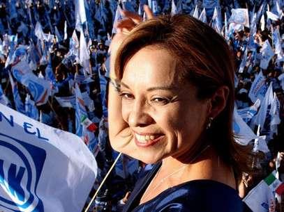Josefina Vázquez Mota, candidata del PAN a la presidencia de México. Foto: AFP