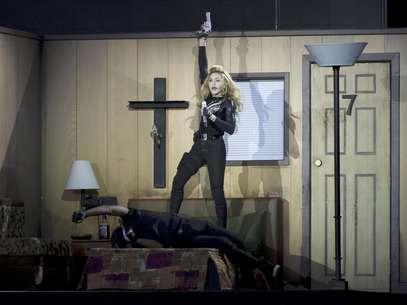 Madonna ofrece un concierto en el Hyde Park de Londres el martes 17 de julio del 2012.  Foto: Jonathan Short / AP