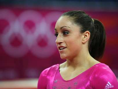 Jordyn Wieber of the U.S. attends a gymnastics training session at the North Greenwich Arena before the start of the London 2012 Olympic Games July 26, 2012. Foto: Brian Snyder / Reuters In English