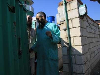 """Miembros de la secta islámica """"fayzarahmanista"""" Foto: AP"""
