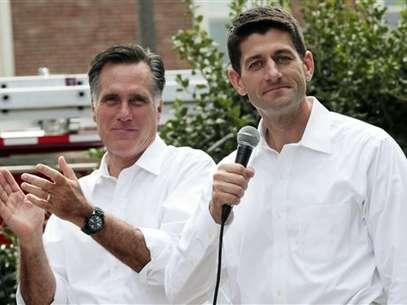 Romney y Ryan durante el anuncio oficial sobre la elección del vicepresidente en Virginia. Foto: AP