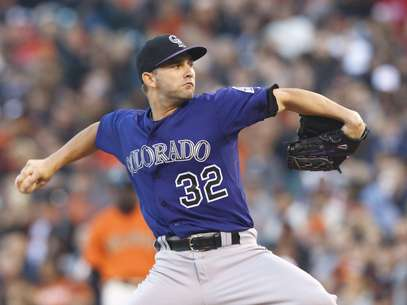 Tyler Chatwood helped lead the Rockies to the victory over San Francisco.  Foto: Getty Image