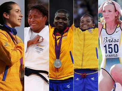 Mariana Pajón, Yuri Alvear, Caterine Ibargüen, Jackeline Rentería y Ximena Restrepo hacen parte de las ocho mujeres colombianas que han conseguido medalla olímpica Foto: Agencias