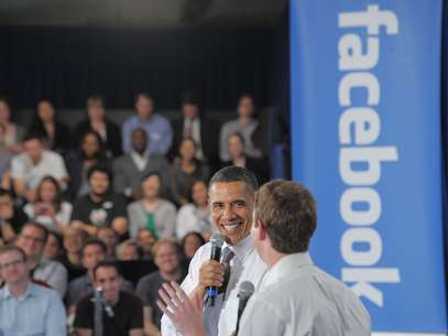 Obama realizó una asamblea comunitaria con el fundador de Facebook, Mark Zuckerberg. Foto: Getty Images