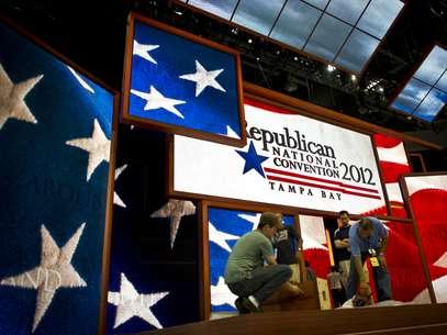 Todo está listo para el inicio de la  Convención Republicana, que atraerá a más de 50,000 personas. Foto: Getty Images