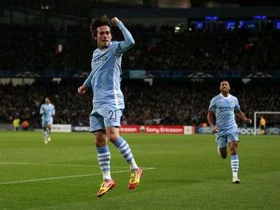 David Silva celebra un gol Foto: AP