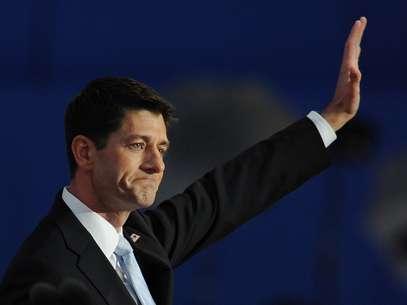 Paul Ryan, el candidato a vicepresidente, cerró anoche la segunda sesión de la Convención Republicana en Tampa. Foto: Getty Images