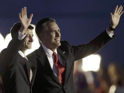 El discurso de Mitt Romney en el cierre de la Convención Nacional Republicana no fue tan popular. Foto: Charlie Neibergall / AP