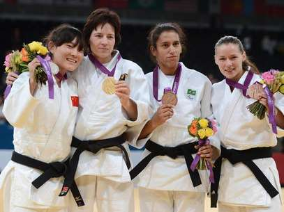 La judoca brasileña Michelle Ferreira conquistó la primera medalla de Brasil en los Juegos. Foto: Getty Images