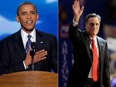 Barack Obama, busca la reelección por el Partido Demócrata, y Mitt Romney va por la presidencia por el Partido Republicano. Foto: AP