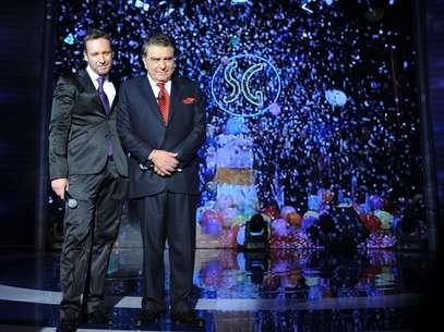 """Martín Cárcamo se repitió """"el plato"""" (estuvo en la segunda gala) y este sábado volvió a animar con Don Francisco, esta vez la cuarta y última gala de """"SG"""" en Chile. Foto: Gentileza Canal 13"""
