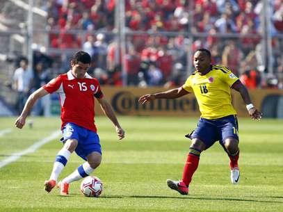 Chile y Colombia se enfrentaron en la octava fecha de la Eliminatoria Sudamericana Foto: Agencia Uno