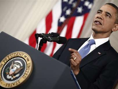U.S. President Barack Obama makes a statement about the Supreme Court's decision on his Administration's health care law in the East Room of the White House in Washington, June 28, 2012. Foto: Luke Sharrett / Reuters In English