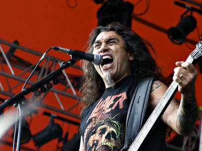 Slayer con su líder Tom Araya Foto: AFP