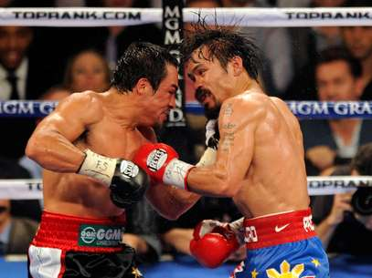 """""""Pacman"""" Pacquiao y """"Dinamita"""" Márquez pelearán el próximo 8 de diciembre en el MGM Grand Garden Arena de Las Vegas. Foto: Getty Images"""