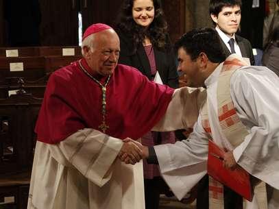 El arzobispo Ricardo Ezzati. Foto: UPI