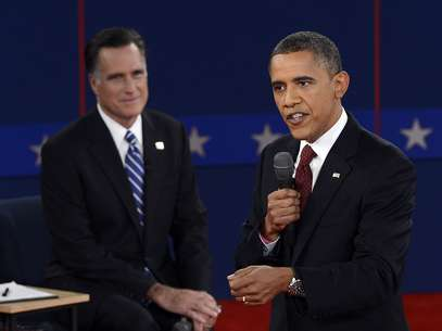 Obama y Romney se sacaron 'chispas' durante el debate en Long Island, New York. Foto: Getty Images