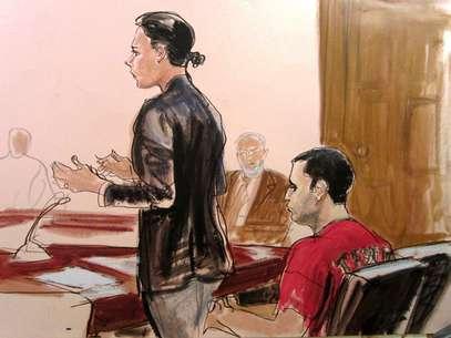 El agente policial compareció en una corte de Manhattan. Foto: AP