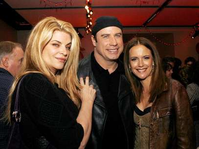 Kirstie Alley con John Travolta y Kelly Preston Foto: Getty Images