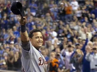 """El venezolano Miguel Cabrera, tercera base de los Detroit Tigers, fue ganador de la Triple Corona de Bateo y es el segundo año que Detroit tiene al pelotero Más Valioso del """"nuevo"""" circuito tras haberlo ganado el lanzador Justin Verlander en 2011. Foto: AP"""