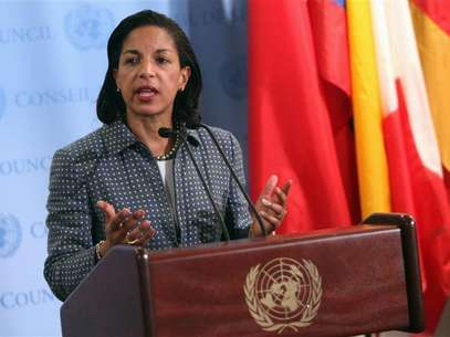 U.S. ambassador to the United Nations (U.N.) Susan Rice speaks with the media after Security Council consultations at U.N. headquarters in New York June 7, 2012. Foto: Allison Joyce / Reuters
