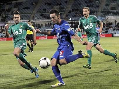 Lance del Getafe - Ponferradina (0-0), partido de vuelta de los 1/16 de final de la Copa del Rey Foto: EFE