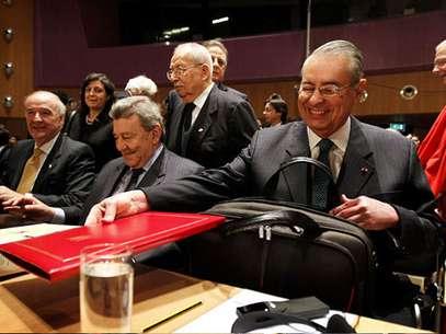 Equipo peruano en Corte de La Haya Foto: AFP