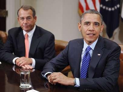El líder republicano en el Congreso, John Boehner, y el presidente Barack Obama se reunieron esta mañana en la Casa Blanca. Foto: Getty Images