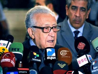 """El enviado de la ONU Lajdar Brahimi señaló que sin una solución política el país se convertiría en un """"infierno"""" Foto: AP"""