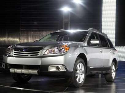 The 2010 Subaru Outback is unveiled at the 2009 New York International Auto Show April 9, 2009. Foto: Eric Thayer / Reuters