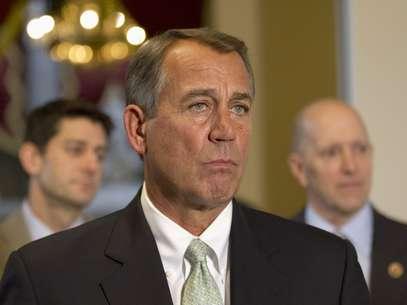 El presidente de la Cámara de Representantes de Estados Unidos, el republicano John Boehner, asiste el miércoles 23 de enero a una conferencia de prensa en el Capitolio. Foto: AP