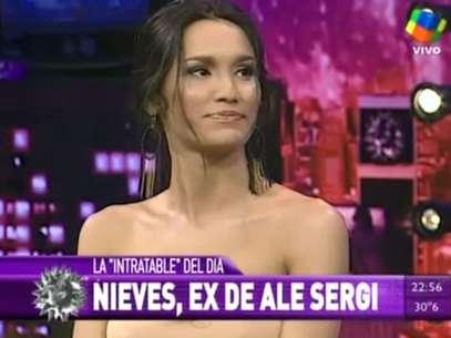 Nieves, la sensual bailarina ex mujer de Ale Sergi Foto: Captura TV
