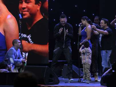 """Leo Méndez le pidió matrimonio a Marcela en la premiación del """"Copihue de oro"""" a fines del 2012. Foto: Edgard Cross-Buchanan/Terra."""