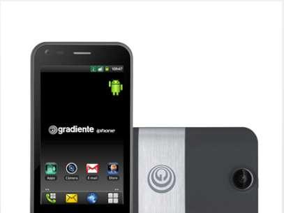"""Gradiente sorprendió al lanzar un teléfono con el nombre """"Gradiente iphone"""". Foto: Reproducción"""