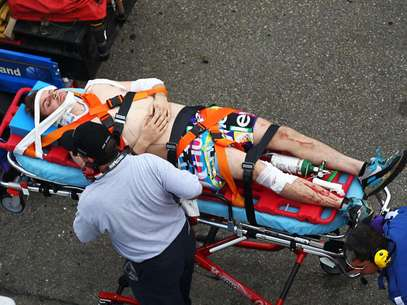 As many as 20 fans at the NASCAR Nationwide race on Saturday were injured from flying debris from a crash.  Foto: Getty Images
